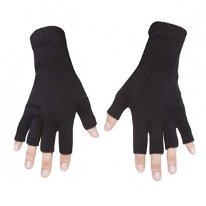 Details about  /2Pcs Unisex Adult Sports Cotton Breathable Half Finger Protective Gloves Warmth